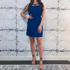 Bebop Blue Cutout Dress